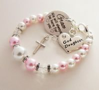 Goddaughter Personalized 'We will always be here'  Bracelet - Boxed